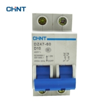 CHINT Miniature Circuit Breaker Mcb DZ47-60 2P D10 Household Miniature Circuit Breaker Air Switch the melting of miniature circuit breaker household air ic45n 3p c25a air switch circuit breaker protection