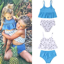 Big Sister and Little Sister Matching Two Pieces Swimwear