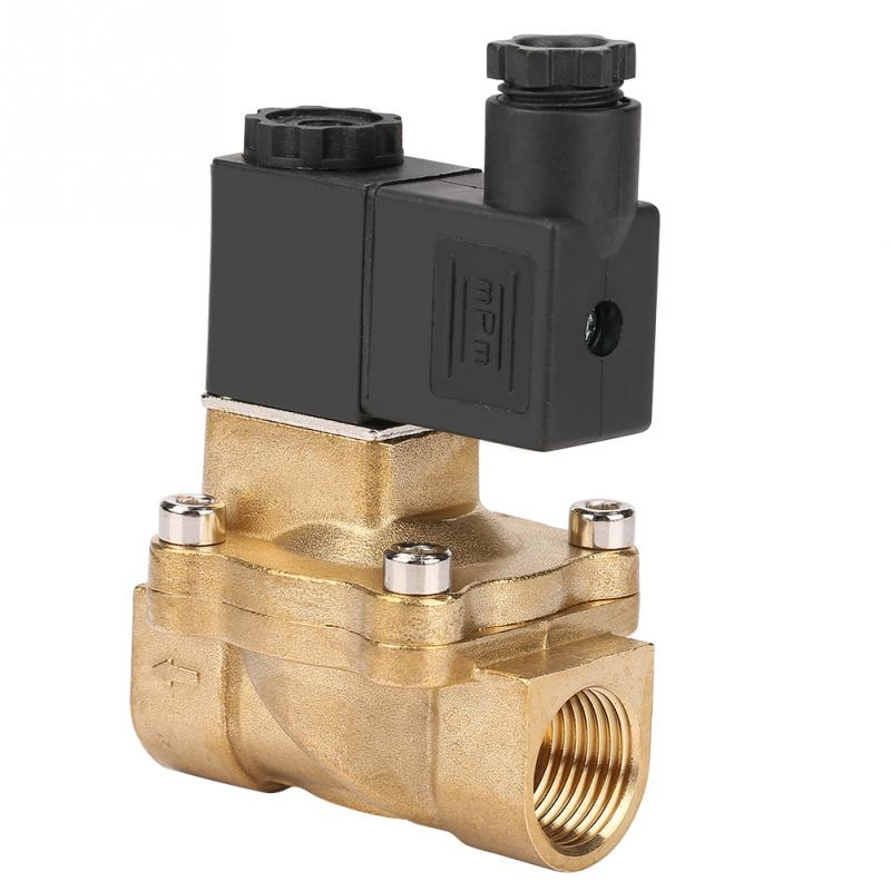 G1/2 Two-port Two-position Pilot Operated Normally Solenoid Valve for Air Oil Water