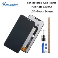 Remanbor For Motorola P30 Note XT1942 6.2'' LCD Display + Touch Screen Assembly Repair For Motorola One Power + Tools + Adhesive