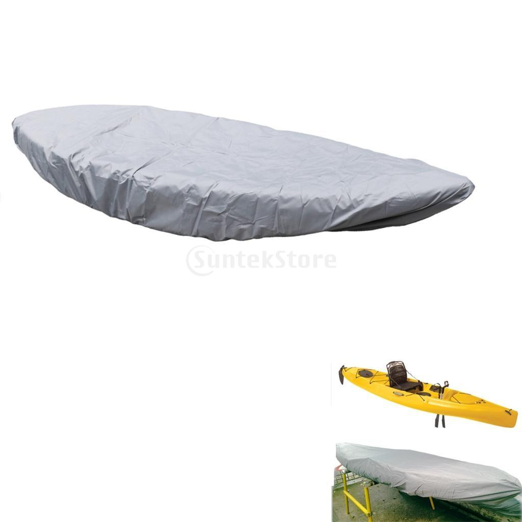Professional Grey Oxford Fabric Waterproof Kayak Cover UV Sun Protector Dust Shield Transport Storage Accessories - 15 Sizes