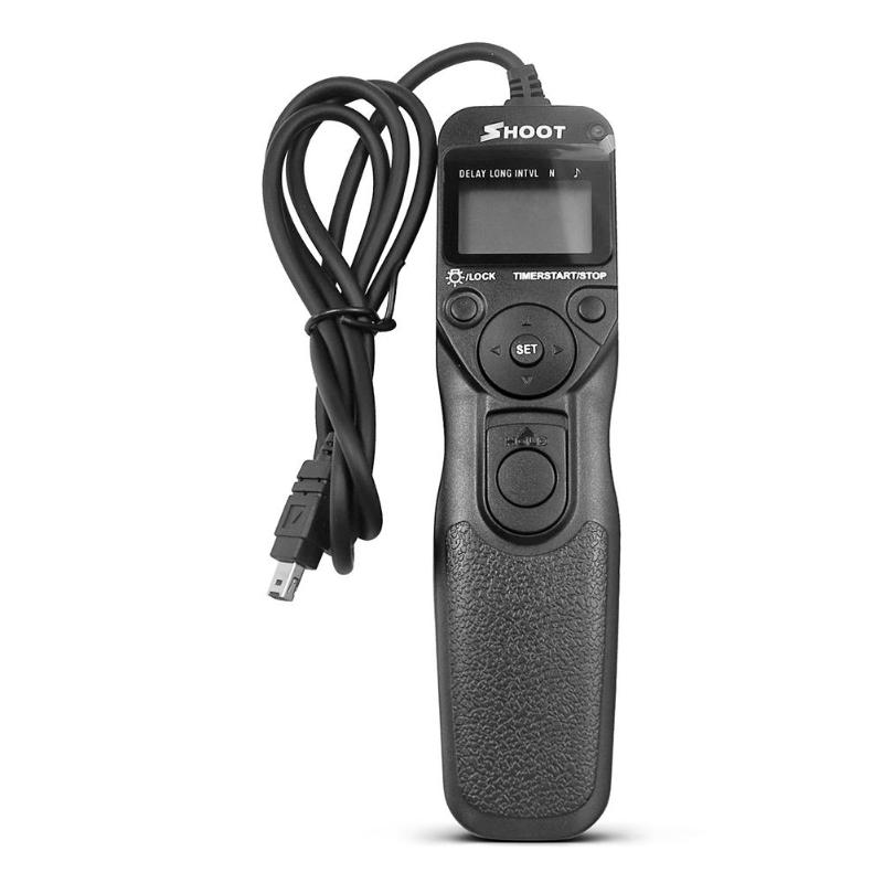 SHOOT MC-DC2 LCD Camera <font><b>Timer</b></font> <font><b>Shutter</b></font> Release <font><b>Remote</b></font> Control for <font><b>Nikon</b></font> Z7 D750 D610 D7500 D7200 D5600 D3300 image