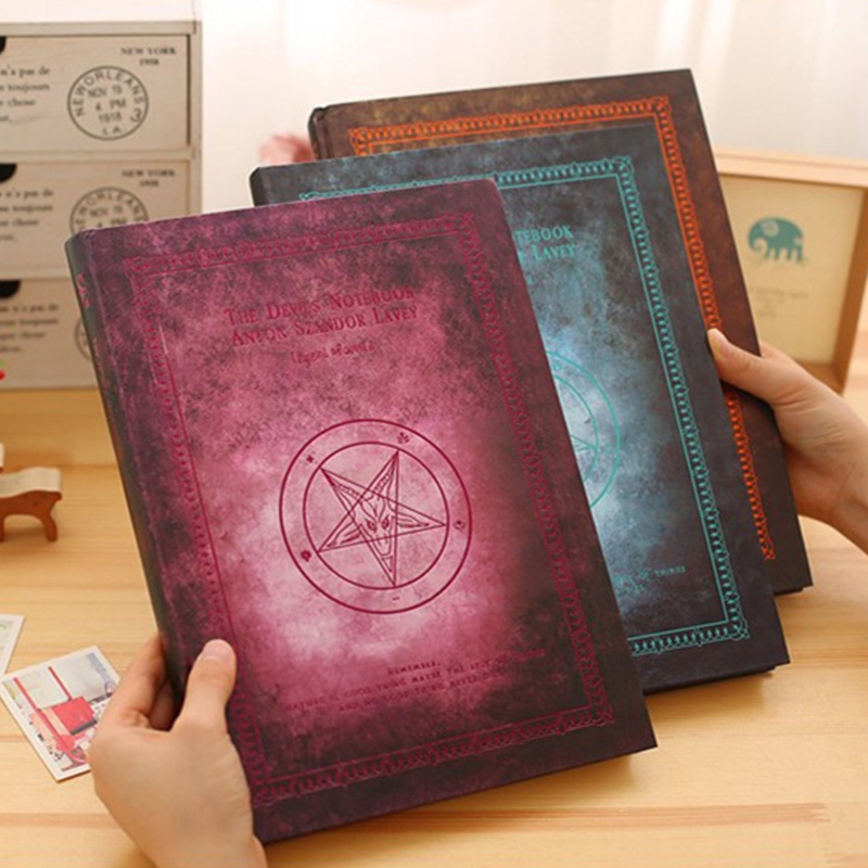 A4 Drawing Book Vintage Blank Notebook Thickening Notepad Sketch Book Doodle Book Magic Book цена