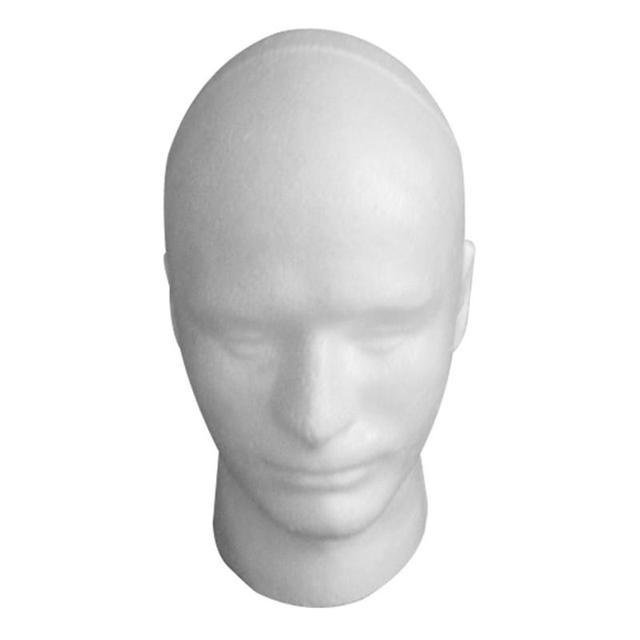 Peluca de cabeza de maniquí para hombre de espuma práctica de 30 cm de alta duración con soporte para gafas de pelucas