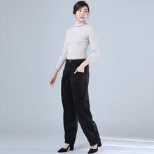 Горячая Распродажа 2020 зимние новые женские брюки бархатные