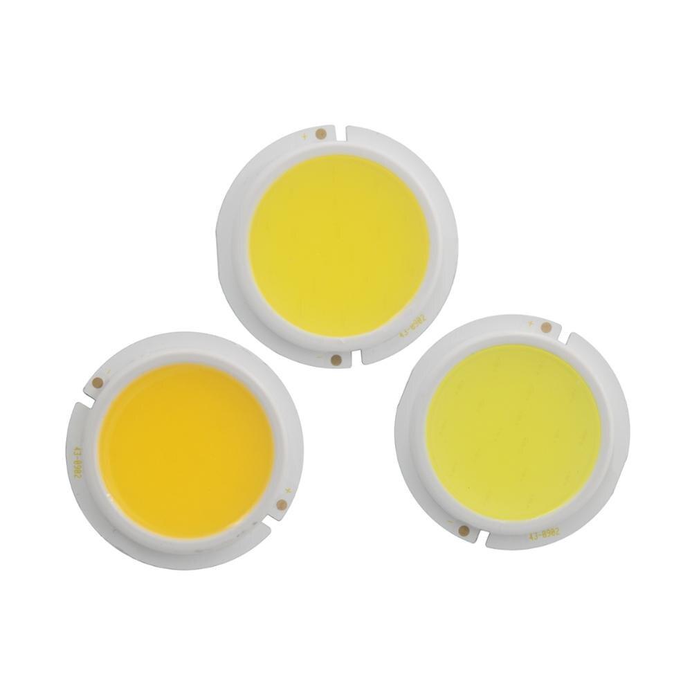 Купить с кэшбэком 10PCS/Lot 43mm thicken LED COB Light Source for spotlight bulb lamp  Module genesis chip 3W 5W 7W 9W Warm Nature White COB LED