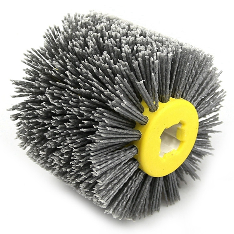 1 Pcs Nylon Abrasive Wire Dupont Drum Polishing Wheel Electric Brush For Woodworking Metalworking 120*100*19mm