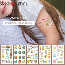 Balleenshiny Easter Temporary Tattoo Stickers Easter Eggs Rabbit Bunny Chicken Sticker Decor Easter Decoration Party Supplies(China)