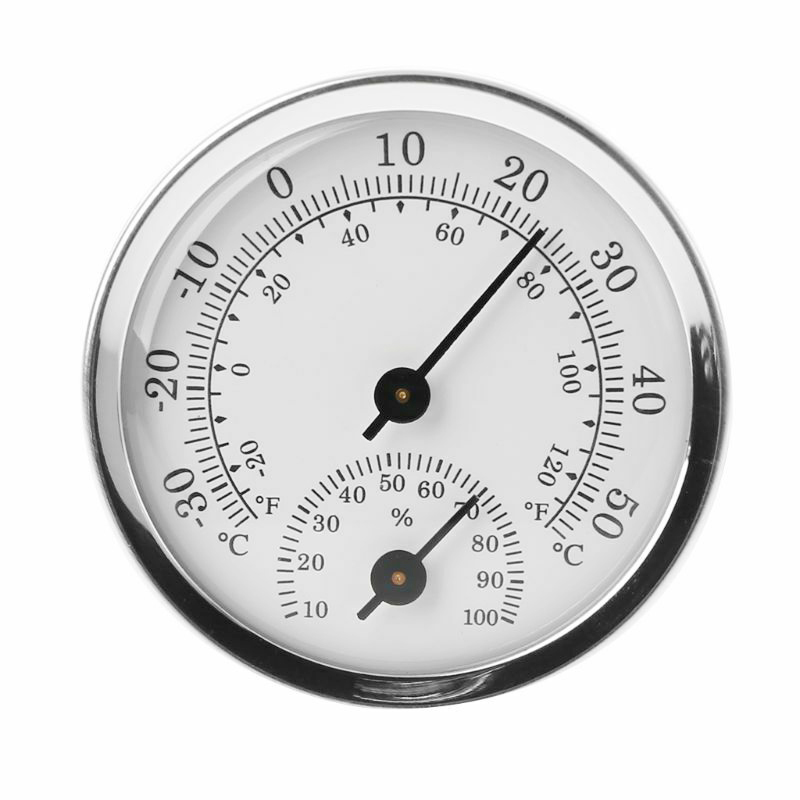 Handhled Pointer Hygrometer Humidity Thermometer Garden Temperature Meter Gauge for houses offices workshops schools warehouses