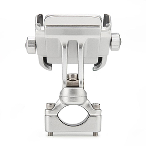 Image 1 - 360 Degree Motorcycle Handlebar Mount Holder For 4 6 Cell Phone GPS Silver