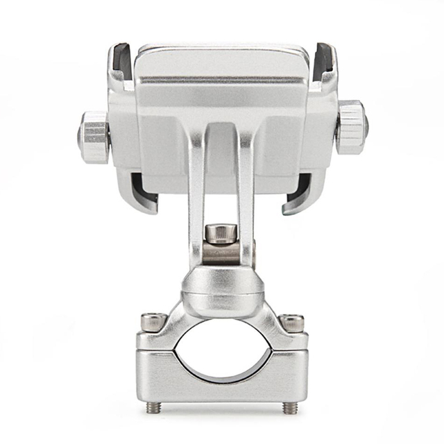 360 Degree Motorcycle Handlebar Mount Holder For 4 6 Cell Phone GPS Silver