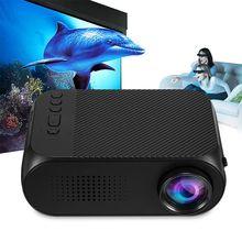 цена на Top 2018 Mini YG320 Home Theater AV / HDMI Support TF Card Projector EU Plug