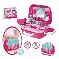 Ролевые игры, детские игрушки для макияжа, розовый набор для макияжа, принцесса, парикмахерское моделирование, пластиковая игрушка для дево...