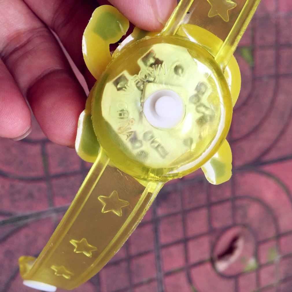 Decoración de Navidad LED brillante muñequera suministros de Navidad pulsera de dibujos animados Clap Ring juguete regalos de navidad