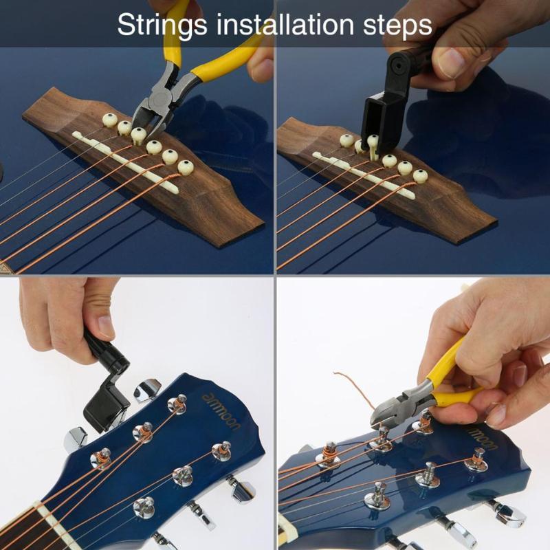 52 Pcs Guitar Repair Tool Kit, Guitar Maintenance Kit for Ukulele Bass Mandolin Banjo