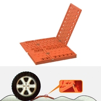 DHBH 2Pcs Foldable Car Atv Trucks Tire Recovery Tracks Tool Anti Skid Tyre Ladder Snow Chains Emergency Rescue For Grass And M