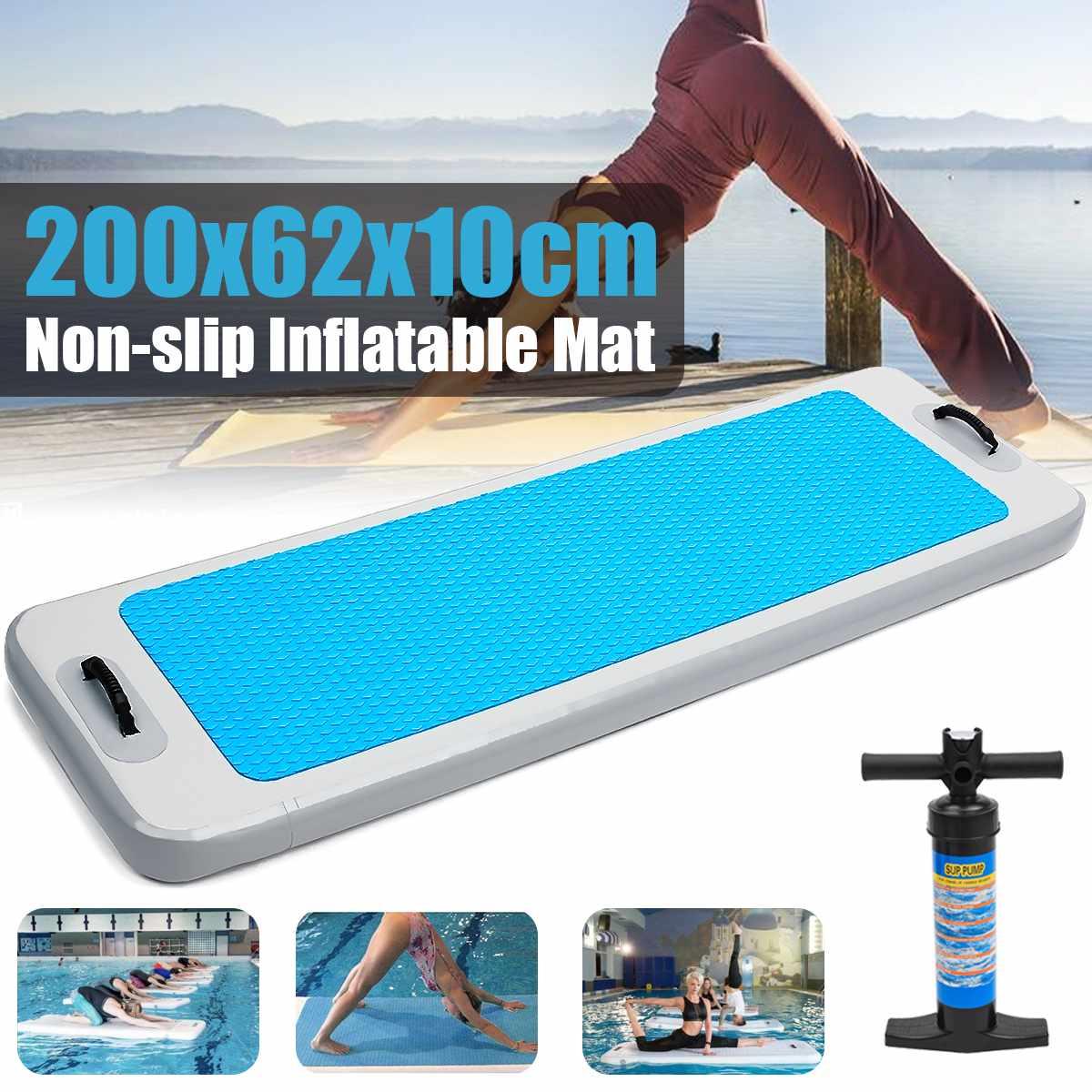 2x0.62x0.1 m Airtrack tapis de Yoga flottant tapis de gymnastique Sports nautiques en plein Air tapis de piste d'air