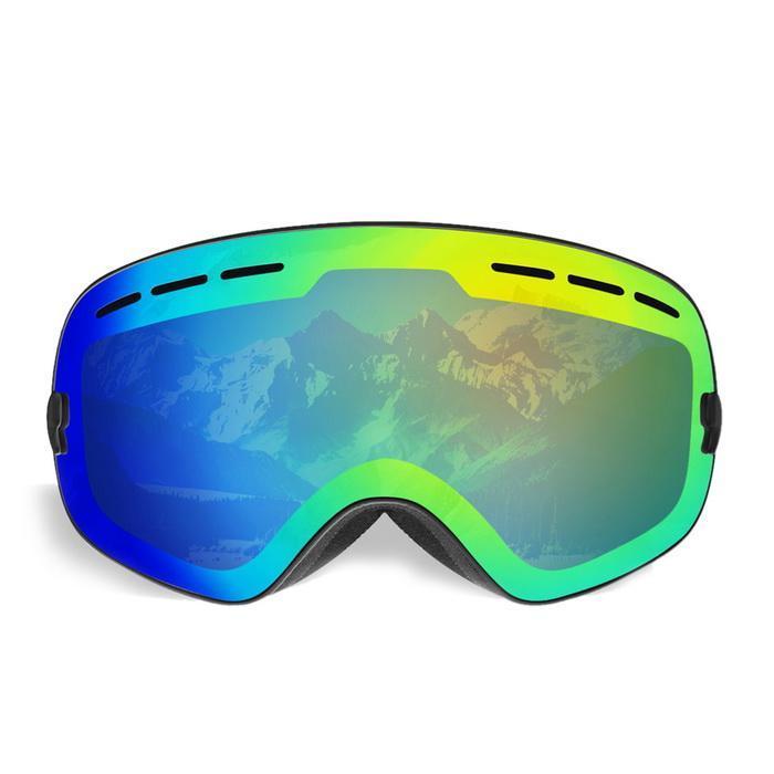 Ski Snowboard motoneige lunettes Anti-buée lentille UV400 hiver Ski Protection des yeux motoneige sans cadre lunettes aimant