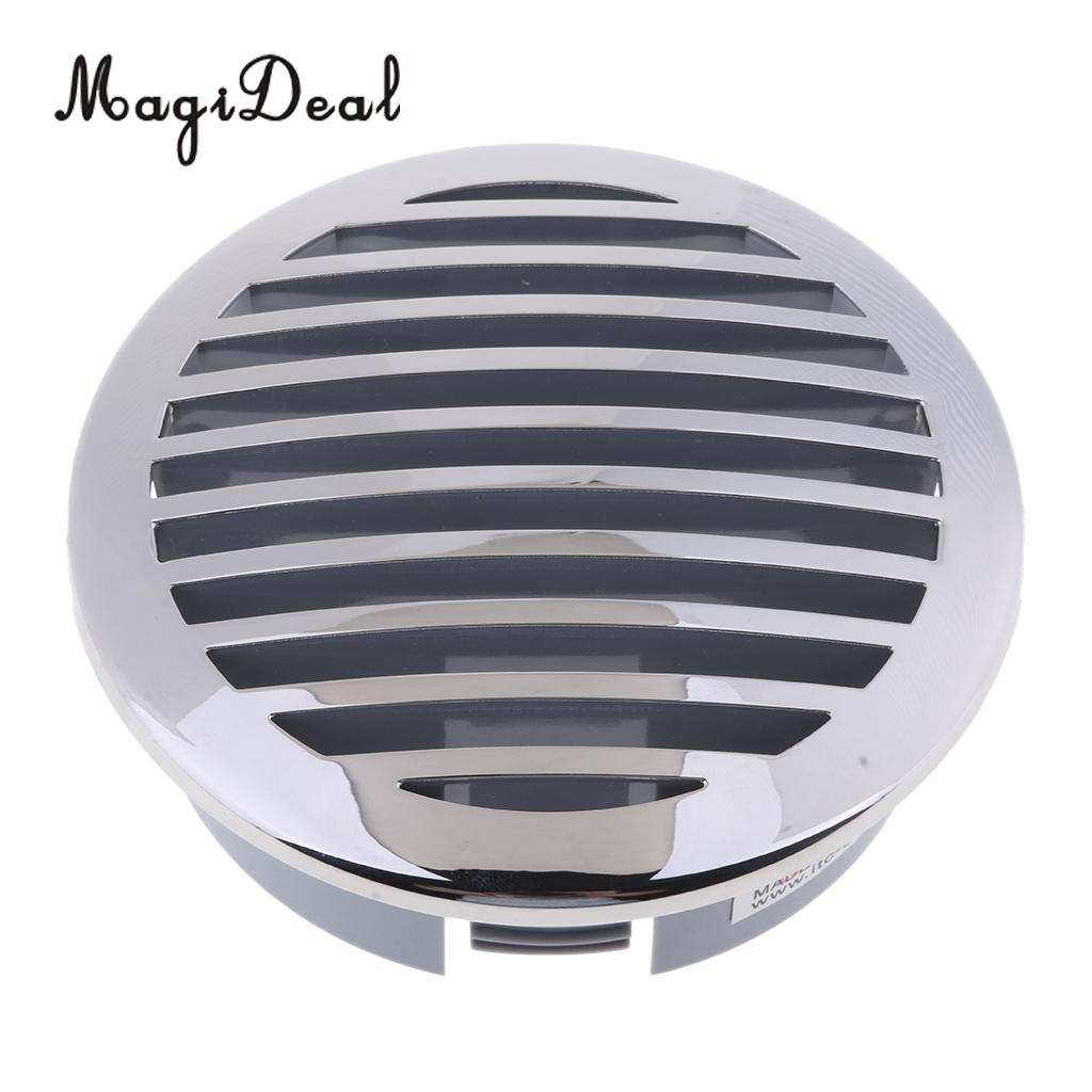 MagiDeal Canoe Kayak RV Marine Boat 4' 100mm /3' 76mm Stainless Steel Curved Clad Airflow Vent 81933SS-HP Dinghy Accessories