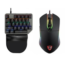 Motospeed Gaming Wired PC Gamer Mouse Keyboard Combos Mini Mechanical Backlit Keypad 27 Keycap 3500 DPI 6 Button Mause Game Mice delux mini keyboard t9 plus professional mechanical gaming keypad wired gaming mouse 12000 dpi computer mice for laptop pc gamer