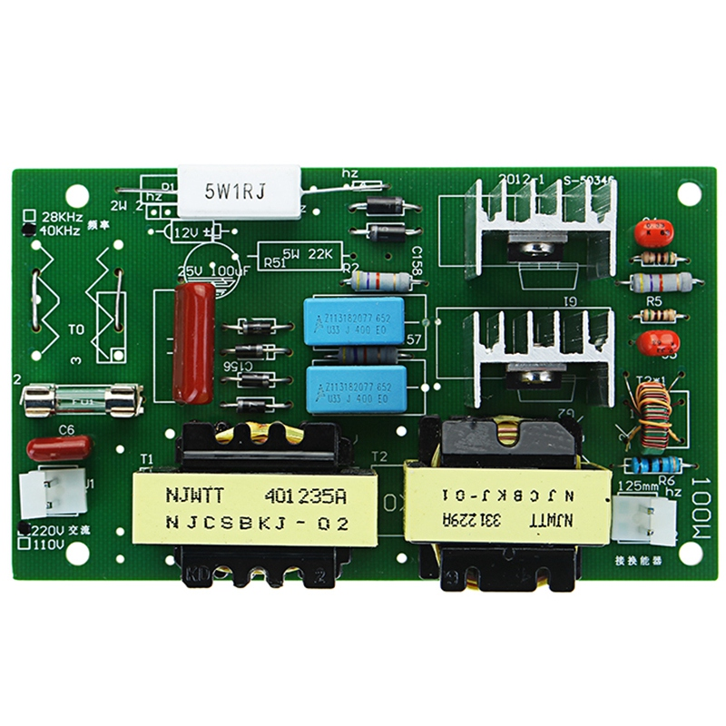Ultrasonic Cleaner Power Driver Frequency Tester Board Ac 220v 60w 100w With 2pcs 50w 40khz Transducers in Ultrasonic Cleaner Parts from Home Appliances