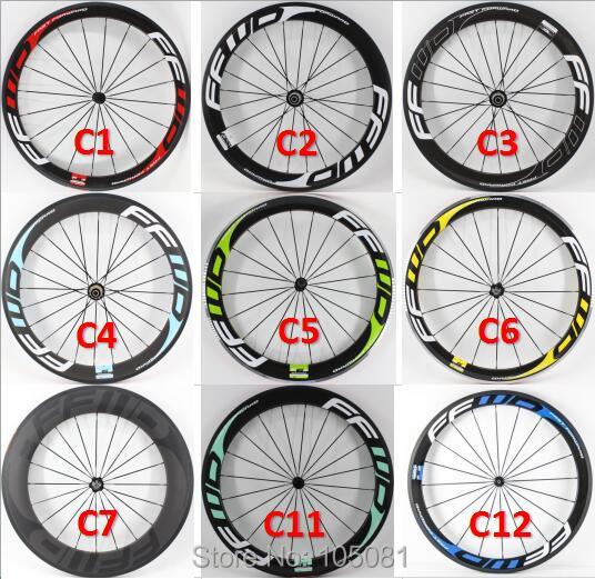 New 700C Road bike glossy matte 3K UD 12K full carbon fibre bicycle wheelset carbon tubular