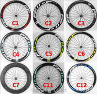 Nouveau 700C vélo de route brillant mat 3 K UD 12 K pleine fibre de carbone vélo roues carbone tubulaire pneu tubeless jantes livraison gratuite