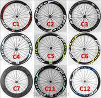 Nouveau 700C vélo de route brillant mat 3K UD 12K pleine fiber de carbone roues de vélo en carbone tubulaire pneu jantes tubeless livraison gratuite