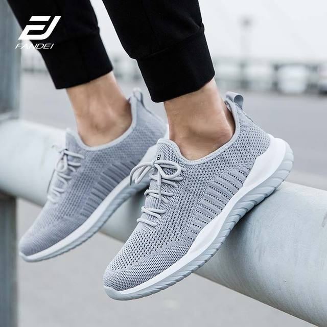 FANDEI Running Shoes For Men Zapatillas Hombre Deportiva Sport Shoes Men Light Sneakers Sport Shoes Men Flyknit Upper Non-Slip 5