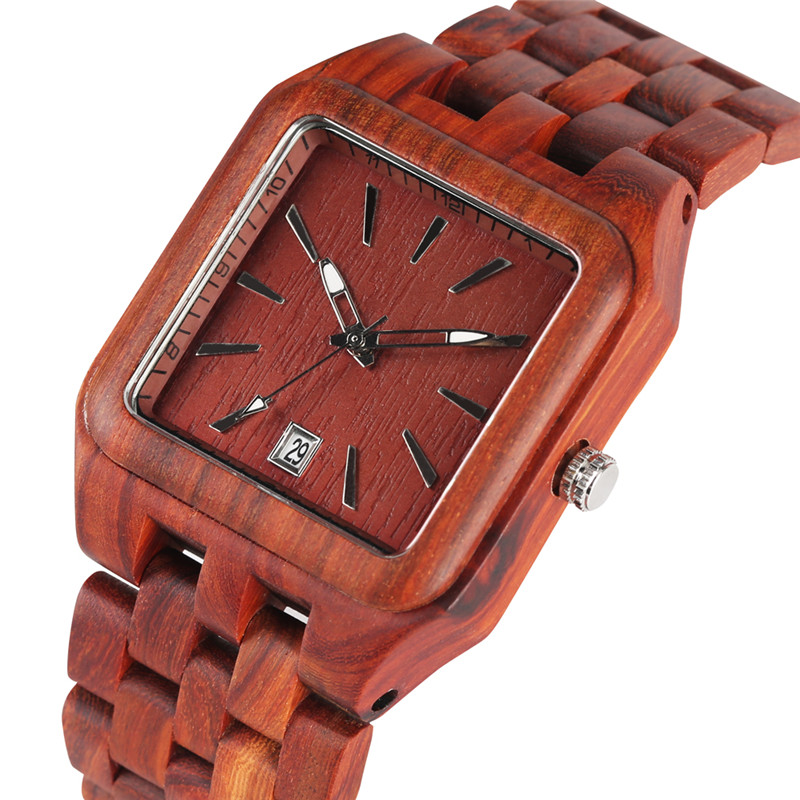 Sandalwood Red Sandalwood Wooden Watch for Male Female Quartz Watch Movement with A Calendar Function Fashion Wooden WatchesSandalwood Red Sandalwood Wooden Watch for Male Female Quartz Watch Movement with A Calendar Function Fashion Wooden Watches