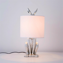 Nordic Loft Masked Rabbit Resin LED Table Lamp Retro Industrial Desk Light Bedroom Bedside Study Restaurant Decorative