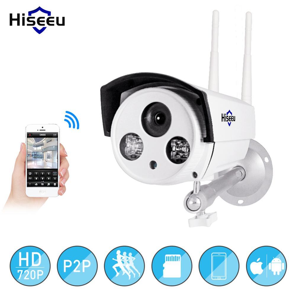 Hiseeu Wifi IP caméra HD 720 P sans fil caméra de sécurité extérieure étanche caméra de Vision nocturne 1MP P2P Wifi caméra CCTV