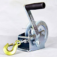 600lbs/800LBSx8/15m Boat truck auto self-locking hand manual Galvanized steel winch hand tool lifting sling