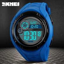 SKMEI 50M Waterproof Mens Sports Watches Relogio Masculino Hot Men  digital fashion Watch Reloj Shockproof ElectronicWristwatch 2017 hot mens womens unique hollowed out triangular dial black fashion watch best lovers watch relogio reloj