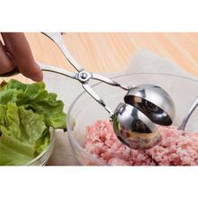 Фантастическая кухня Meatball чайник из нержавеющей стали инструменты для мясной промышленности и птицеводства DIY мясо рыбы шариковая Фрикаделька пресс-формы 16x7x3,5 см