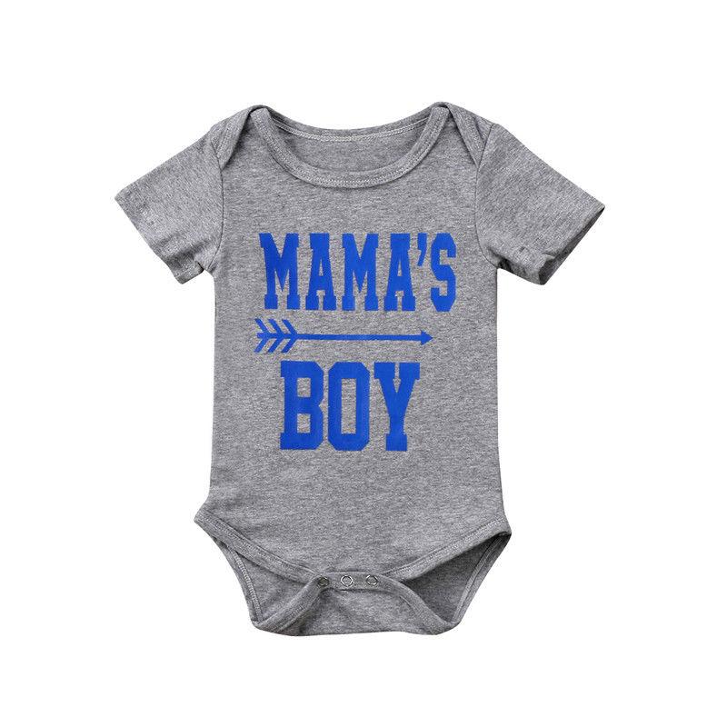 0-18 M Mama Jungen Infant Neugeborenen Baby Jungen Kurzarm Brief Drucken Baumwolle Romper Overall Outfits Baby Kleidung Mit Traditionellen Methoden