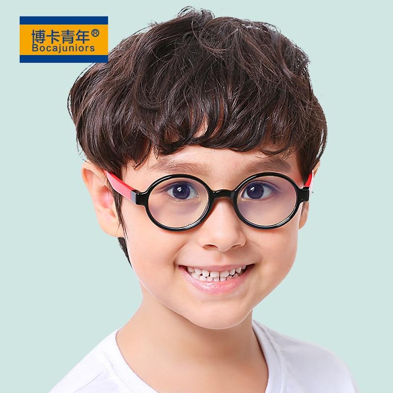 2018 New Style Children Anti-Blueray Glasses Circular Plain Mirror Child Case Phone Case Goggles Glasses Frame F8146
