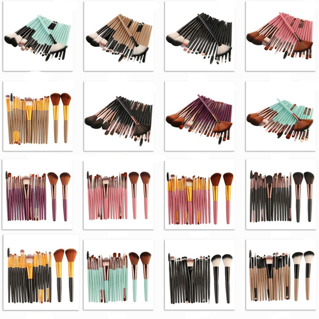 Pro Makeup Brushes Full Set 6/15/18Pcs Cosmetic Powder Eye Shadow Foundation Blush Blending Make Up Brush Maquiagem Beauty Tool 5