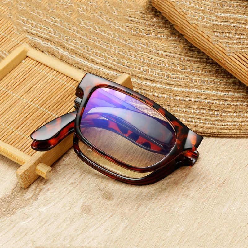 Iboode, gafas de lectura plegables Unisex con estuche + 1,0 1,5 2,0 2,5 3,0 3,5 4,0, gafas portátiles de presbicia para hombres y mujeres, gafas