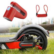 M365 Electric Scooter Anti-Theft Wheels Disc Brakes Lock with Steel Wire MTB Cycling Bicycle Mountain Bike Disc Lock цены