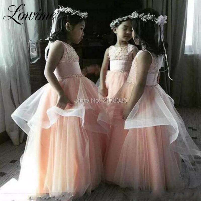 Lace   Flower     Girl     Dresses   For Weddings Tulle Formal Gown Prom   Dress   First Communion   Dresses   2019 Pageant   Dresses   For   Girls