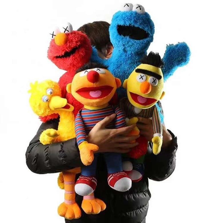 50 Cm Big Size Sesame Street Plush Doll Toys Sesame Street Elmo Ernie Bert  Figures Soft Plush Birthday Gift Toys Free Shipping