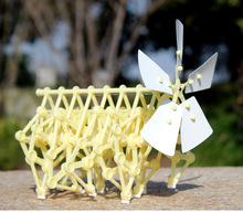 1pc Kids educational Wind Beast Strandbeests Power Bionic Mechanical Model science children toy DIY Birthday gift