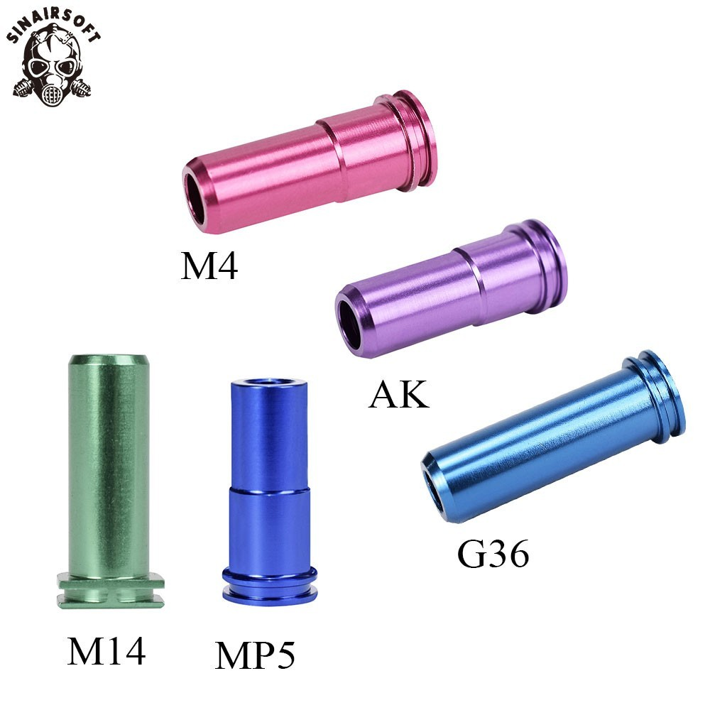 SHS Air Seal M4 Nozzle For G36 G36c M4 M14 AK MP5 Airsoft AEG Paintball Shooting Target Hunting Targets Accessories