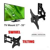 1Pcs Full Motion 180Degree Rotate TV Wall Mount Bracket Supports 17 55Inch LED LCD Flat Screen Universal Telescopic Rack
