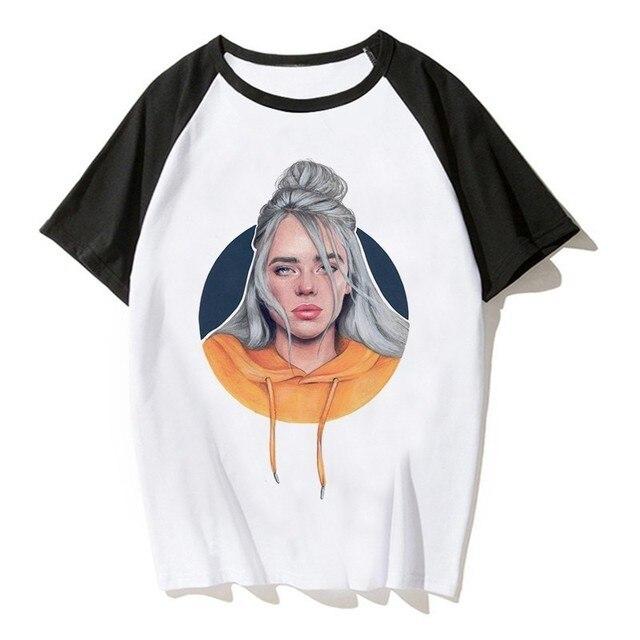 Hip Hop Billie Eilish T Áo Sơ Mi Giản Dị T-Shirt O-Cổ Ngắn Tay Áo Mùa Hè Người Đàn Ông Phụ Nữ Áo Thun Chất Lượng Cao Tee Áo Sơ Mi Hàng Đầu