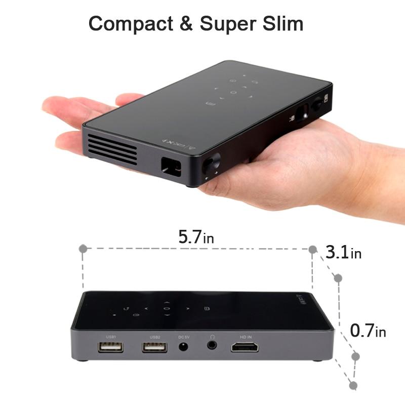AUN projecteur intelligent D5S, Android 7.1 (En Option 2G + 32G) WIFI, Bluetooth, Batterie, HDMI, mini projecteur portable, 3D Beamer - 5