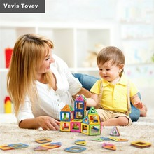 Vavis Tovey Boys and Girls Creative DIY Puzzle Large Magnetic Building Blocks Toys Gifts for Children vavis tovey variety of assembling building blocks children s magnetic piece educational toys gifts for children
