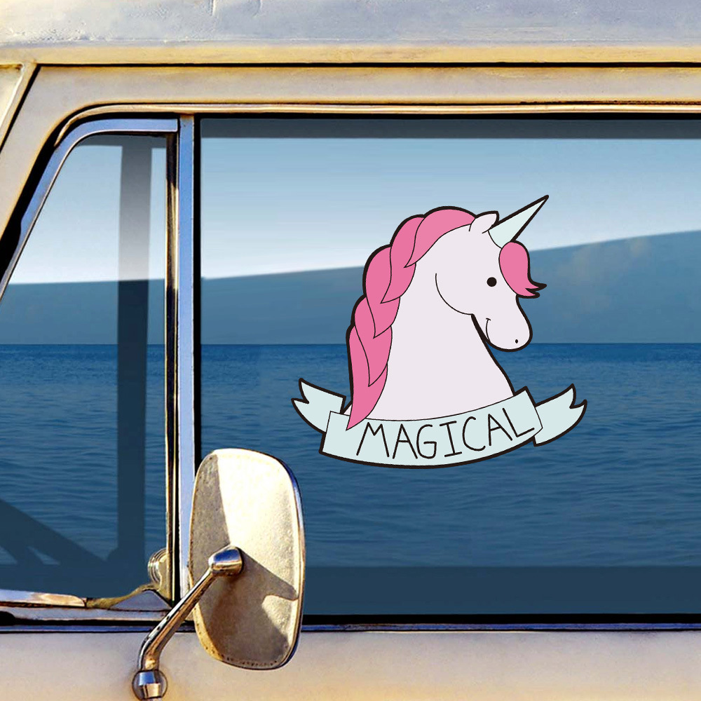 Image 4 - Car Sticker Magic Creative Unicorn Cartoon Car Sticker AliExpress Sale Hot Selling Body Notebook Sticker-in Car Stickers from Automobiles & Motorcycles