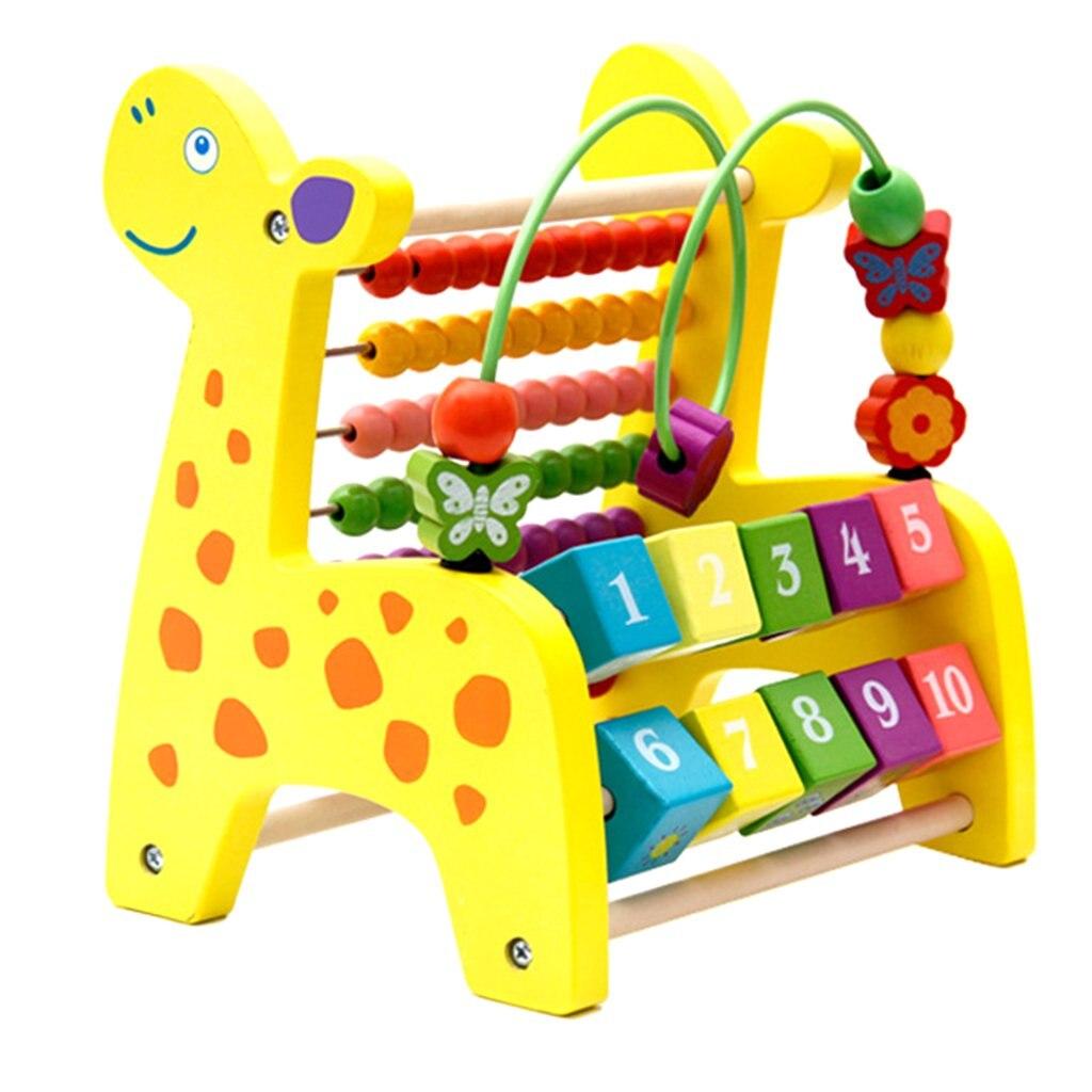 3 en 1 jouet de développement en bois boulier blocs roulants perles labyrinthe Xylophone apprentissage précoce jouets éducatifs pour enfants enfants